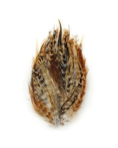 Red Chinchilla Hackle Feather Pads - Natural