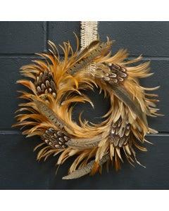Natural Hackle & Pheasant Wreath