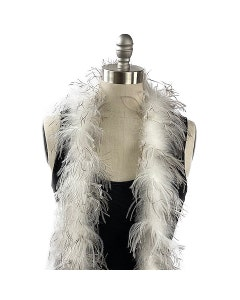natural ostrich feather boa