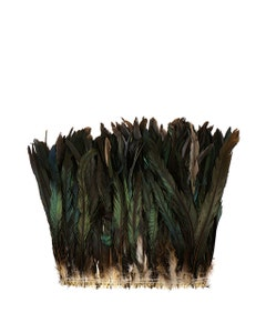 """Rooster Coque Tails Feathers Bronze Natural  11-14"""" [1/4 LB Bulk]"""