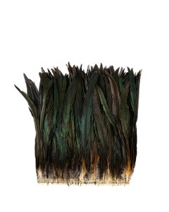 """Rooster Coque Tails Feathers Bronze Natural  13-16"""" [1/4 LB Bulk]"""