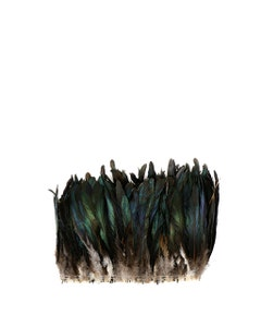"""Rooster Coque Tails Feathers Bronze Natural  7-10"""" [1/4 LB Bulk]"""