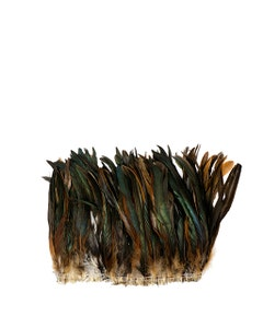"""Rooster Coque Tails Feathers Half Bronze Natural 9-12"""" [1/4 LB Bulk]"""