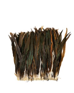 """Rooster Coque Tails Feathers Half Bronze Natural 13-16"""" [1/4 LB Bulk]"""