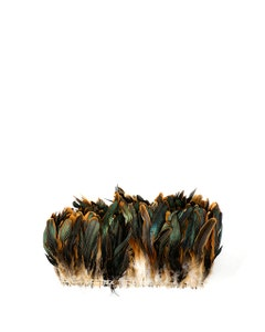 """Rooster Coque Tails Feathers Half Bronze Natural 5-8"""" [1/4 LB Bulk]"""