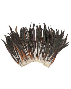 """Rooster Coque Tails Feathers Half Bronze Natural 15-18"""" [1/4 LB Bulk]"""