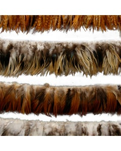"""Rooster Hackle - Saddle - Assorted - bleached - 3 - 6"""""""