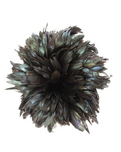 Rooster Bronze Schlappen Feathers -  1YD - Natural