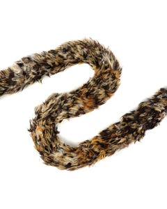 """1 PC Rooster Saddle Feather Boa - Badger 3-4"""" - Natural"""