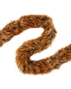 """Rooster Saddle Feather Boas Red Chinchilla - 5 - 6"""" - Natural"""
