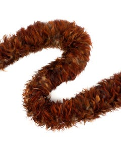 Rooster Saddle Feather Boas - Red - Natural