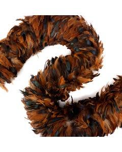Rooster Schlappen Feather Boas - Half Bronze Irid - Natural