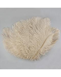 Beige Ostrich Feather Drabs