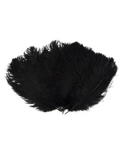 Ostrich Feather Drabs - 1/4 pound (approx. 60 pieces) 13 - 16 inch - Black