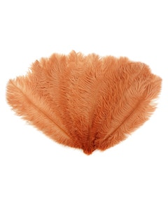 Ostrich Feather Drabs - 1/4 pound (approx. 60 pieces) 13 -16 inch - Cinnamon