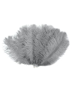 Ostrich Feather Drabs - 1/4 pound (approx. 60 pieces) 13 -16 inch - Silver