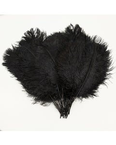 Ostrich Tails 16-18 inch  - 30 PC - Black