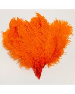 Ostrich Tails 16-18 inch  - 30 PC - Orange