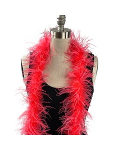coral pink ostrich feather boa