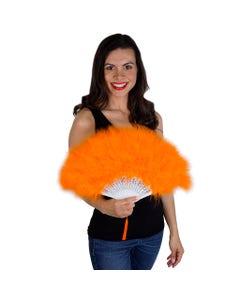 Marabou Feather Fan - Orange