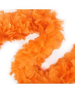 "Turkey Boas Solid Colors - 6 - 8"" Orange"