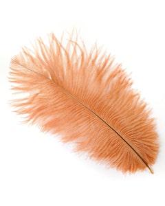 "Ostrich Feathers-Drabs - 9-12"" - 12 pcs [Premium Top Quality] Cinnamon"