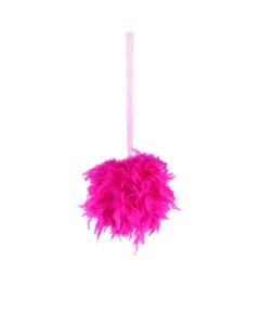 "Chandelle Feather Pom Poms - Shocking Pink - 12"""