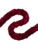 """Dyed Red Chinchilla Rooster Saddle Feather Boas - 4 - 5"""""""