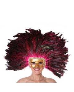 Pink Feather Headdress