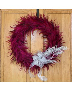 PINK HACKLE FEATHER WREATH