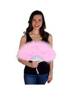 Marabou Feather Fan - Candy Pink