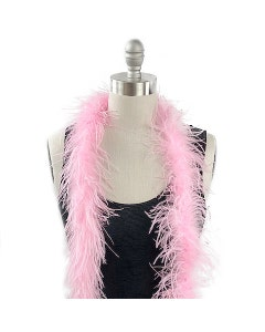 Value Two-Ply Ostrich Feather Boa - Candy Pink