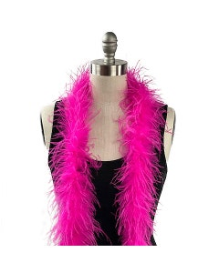 Value Two-Ply Ostrich Feather Boa - Shocking Pink
