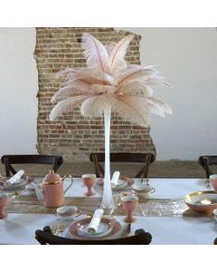Ostrich Eiffel Tower Centerpiece Champagne w/White Vase