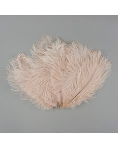 "Bulk Feather Ostrich Drabs - 4-8"" 1/4 lb Champagne"