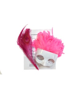 PINK FEATHER MASK KIT