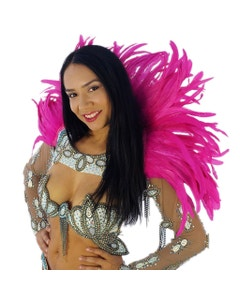 Carnival Feather Collar Shocking Pink