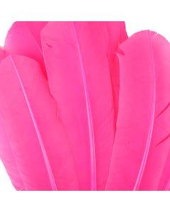 Turkey Quills Dyed - Pink Orient