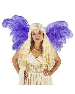 Purple Ostrich Feather Wings
