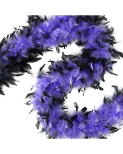 CHANDELLE BLACK TIPPED FEATHER BOA