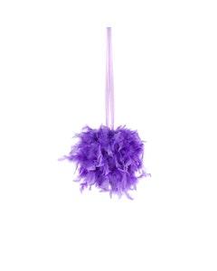 Chandelle Feather Pom Poms - Lavender