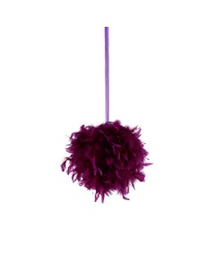 Chandelle Feather Pom Poms - Purple