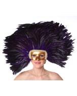 Purple Feather Headdress