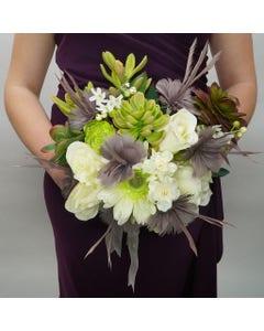 feather floral bouquet