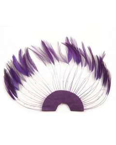 Hackle Plate Trims with Beads - Purple