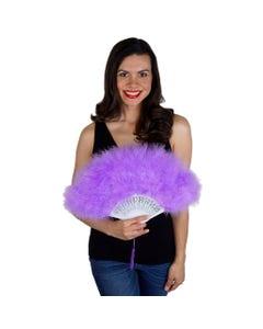 Marabou Feather Fan - Lavender