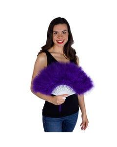 Marabou Feather Fan - Regal