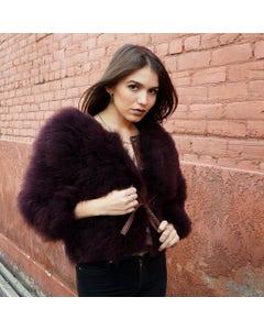 Marabou Jacket  Purple Medium