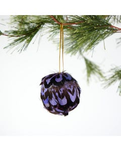 pheasant venery feather ornament dyed Lavender purple