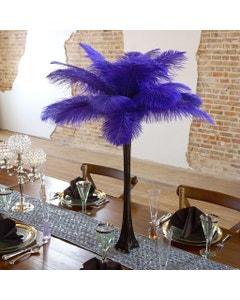 Ostrich Eiffel Tower Centerpiece Regal w/Black Vase
